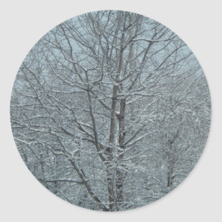 snowy tree sticker