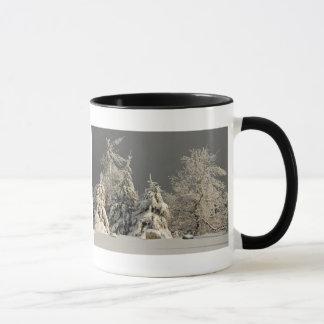 Snowy Trees - Blue Knob mug