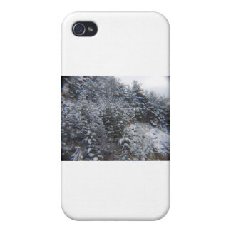 Snowy Trees Cases For iPhone 4