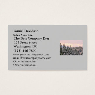 Snowy Trees Landscape Photo Business Card