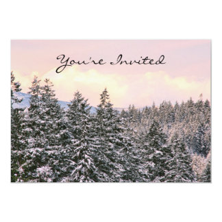 Snowy Trees Landscape Photo Card