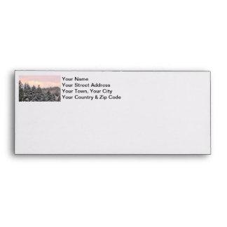 Snowy Trees Landscape Photo Envelopes