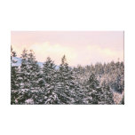 Snowy Trees Landscape Photo Gallery Wrapped Canvas