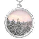 Snowy Trees Landscape Photo Jewelry
