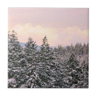 Snowy Trees Landscape Photo Tiles
