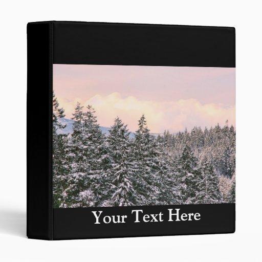 Snowy Trees Landscape Photo Vinyl Binder