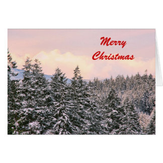 Snowy Trees Photo Christmas Card Greeting Cards