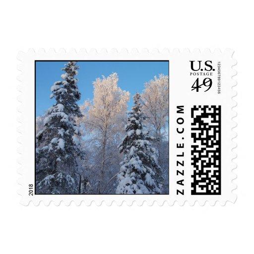 Snowy Trees Postage