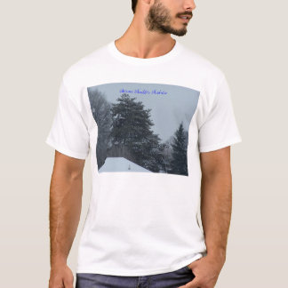 Snowy Trees, Warm Winter Wishes T-Shirt