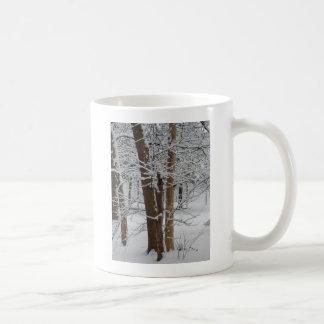 snowy trunks coffee mug