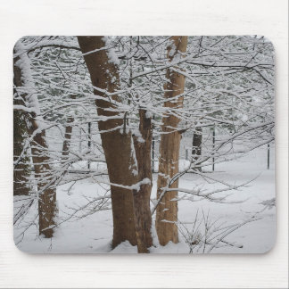 snowy trunks mouse pad