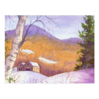 Snowy Vermont Mountain Landscape Postcard