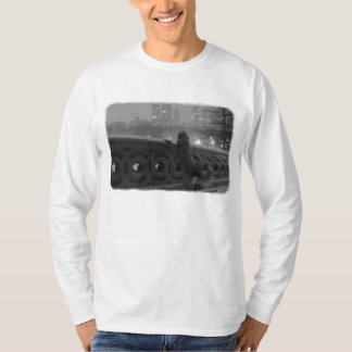Snowy View from Bow Bridge-Central Park T-shirt