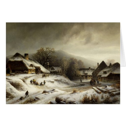 Snowy Village and Landscape Cards
