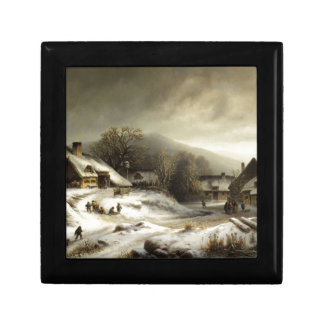 Snowy Village and Landscape Jewelry Boxes