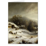 Snowy Village and Landscape Greeting Cards