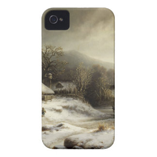 Snowy Village and Landscape iPhone 4 Cover