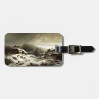 Snowy Village and Landscape Travel Bag Tags