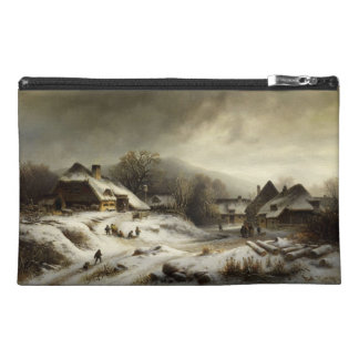 Snowy Village and Landscape Travel Accessories Bags