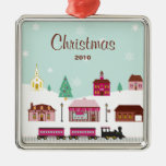 Snowy Village Christmas Ornament
