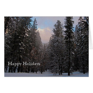 Snowy Weather Holiday Card