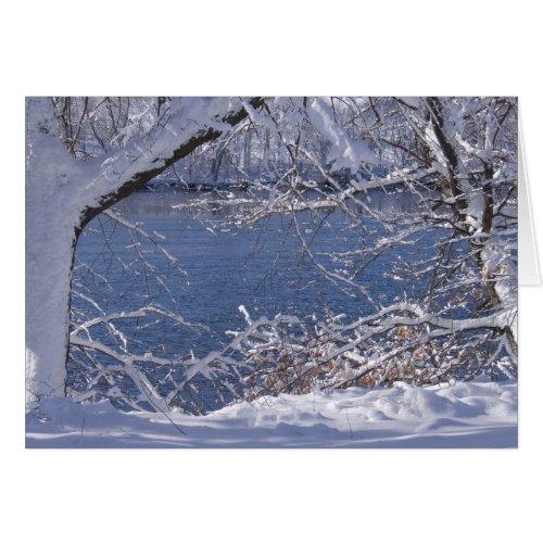 Snowy White Card card