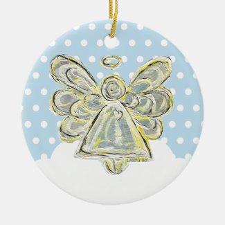 Snowy White Christmas Angel Ornament