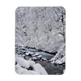 Snowy white creek scenic, Oregon Magnet
