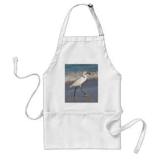 Snowy White Egret Adult Apron
