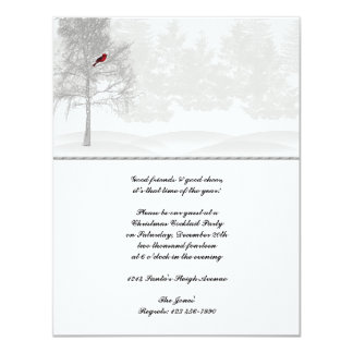 Snowy White Forest with Red Cardinal Card