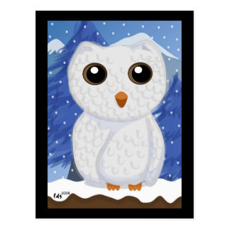 Snowy White Owl Postcard