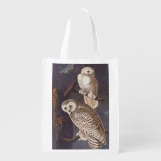 Snowy White Owl Reusable Bag Reusable Grocery Bag