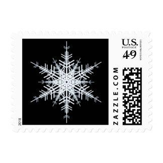 Snowy White Snowflake Stamp