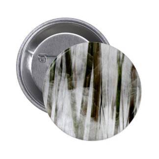 Snowy Winter Abstract Button