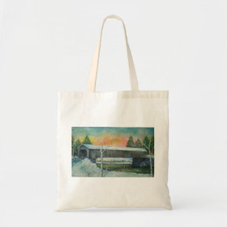 Snowy Winter Budget Tote Bag
