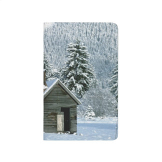 Snowy Winter Cabin Snow Covered Mountain Scenic Journal