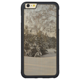 Snowy Winter Day Carved Maple iPhone 6 Plus Bumper Case