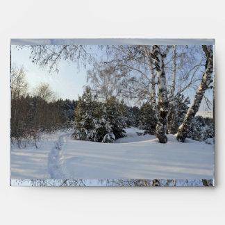 Snowy Winter Day Envelope