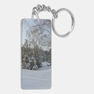 Snowy Winter Day Keychain