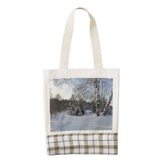 Snowy Winter Day Zazzle HEART Tote Bag