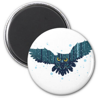 Snowy Winter Forest and Owl 2 Magnet