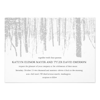 Snowy Winter Frosty Woods Winter Wedding Invites Personalized Invites