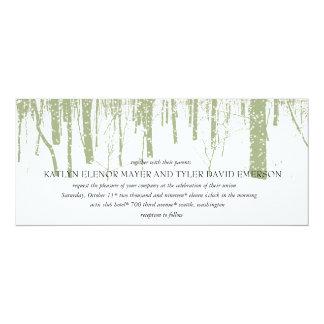 Snowy Winter Frosty Woods Winter Wedding Invites