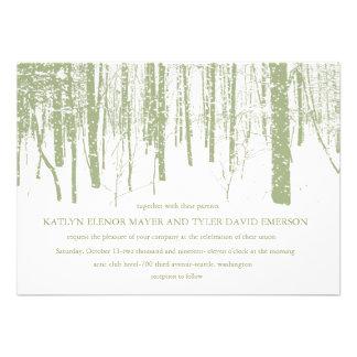Snowy Winter Frosty Woods Winter Wedding Invites Invite