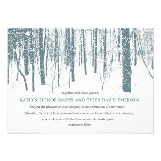Snowy Winter Frosty Woods Winter Wedding Invites Custom Announcements