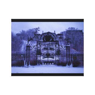 Snowy Winter Gate Canvas Print