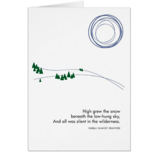 Snowy Winter Landscape with Trees Card