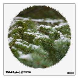 Snowy Winter Pine Tree Wall Sticker