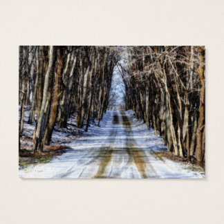 Snowy Winter Road Business Card