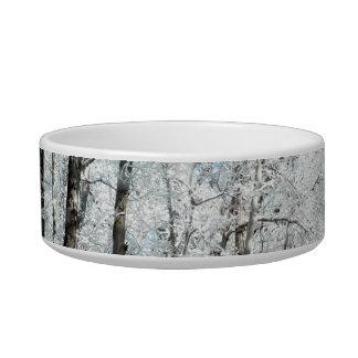 Snowy Winter Road Scene Bowl